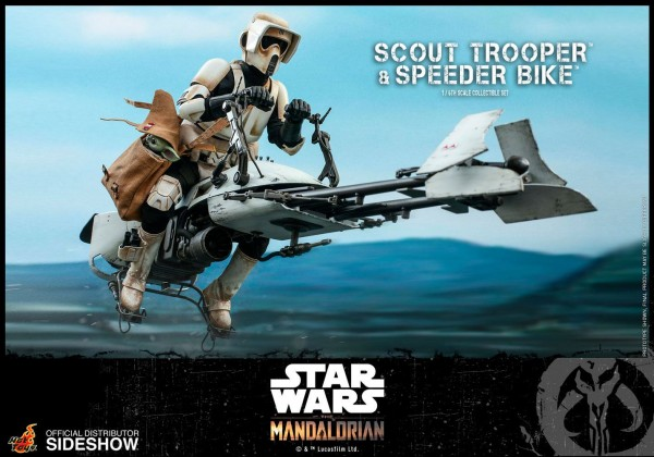 Star Wars The Mandalorian Television Masterpiece Actionfigur 1/6 Scout Trooper & Speeder Bike