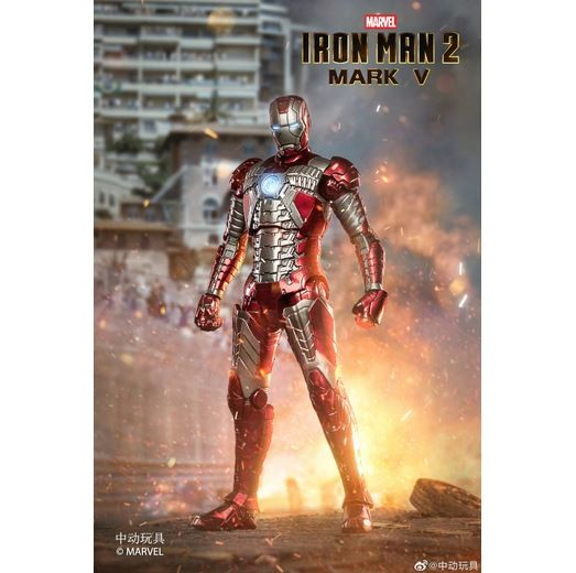 ZD Toys Actionfigur 1/10 Iron Man Mark V