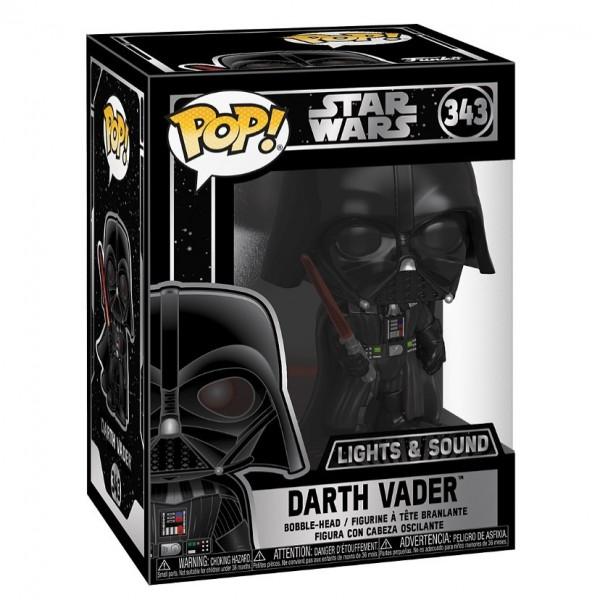 Star Wars Funko Pop! Vinylfigur Darth Vader (with Sound & Light Up)