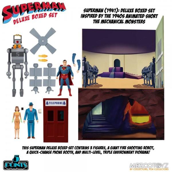 Superman The Mechanical Monsters (1941) '5 Points' Actionfiguren Deluxe Box-Set