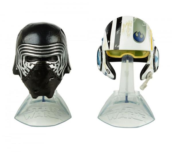 Star Wars Titanium Black Series Diecast Helme Kylo Ren / Poe Dameron