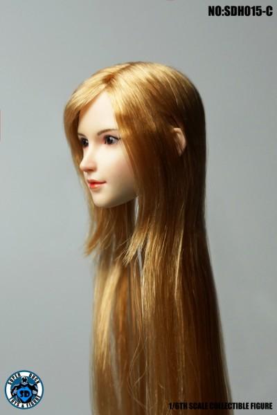 SUPER DUCK 1/6 Girl Blonde Hair Head (Pale Skin)