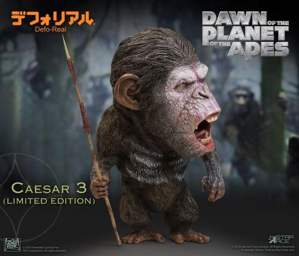 Planet der Affen: Revolution Defo-Real Series Soft Vinyl Statue Caesar (Warrior Face) Limited Editio