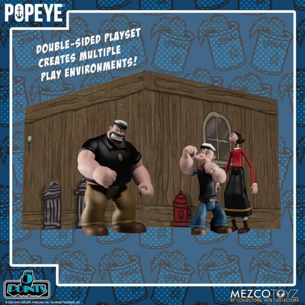 Popeye '5 Points' Actionfiguren Deluxe Box-Set