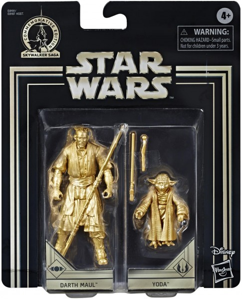 Star Wars Skywalker Saga Actionfiguren 10 cm Darth Maul & Yoda (Commemorative Edition)