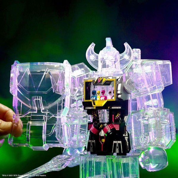 Power Rangers Actionfigur Super Cyborg Megazord (Clear)