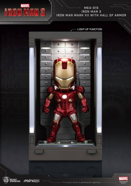 Iron Man 3 'Mini Egg Attack Action' Figur Hall of Armor Iron Man Mark VII