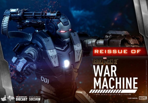 Iron Man 2 Movie Masterpiece Diecast Actionfigur 1/6 War Machine (Reissue)