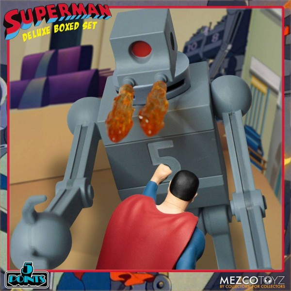 Superman The Mechanical Monsters (1941) '5 Points' Actionfiguren Deluxe Box-Set