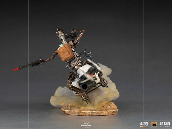 Star Wars The Mandalorian Art Scale Statue 1/10 IG-11 & The Child (Deluxe)