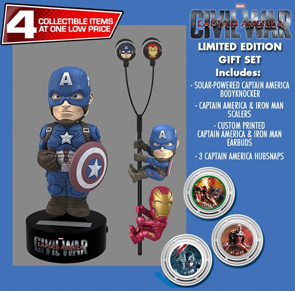 Captain America Civil War Body Knocker Wackelfigur Captain America Limited Edition