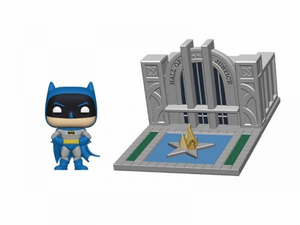 Batman 80th Anniversary Funko Pop! Town Vinylfigur Batman & Hall of Justice