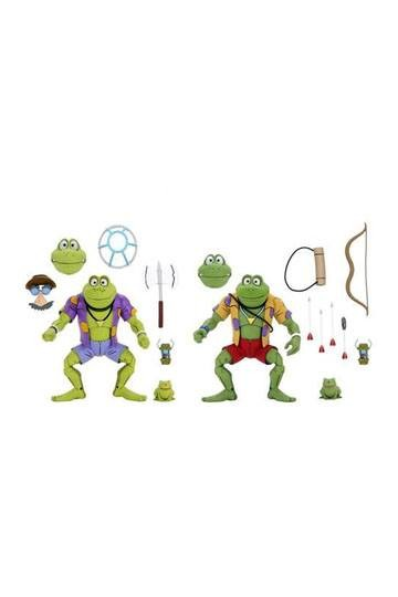 Teenage Mutant Ninja Turtles Actionfiguren Cartoon Genghis & Rasputin Frog (2-Pack)
