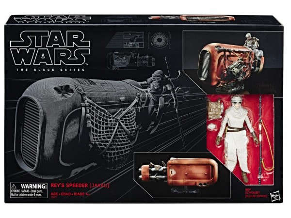 Star Wars Black Series Deluxe Set Rey's Speeder (Jakku) & Rey (Scavenger Outfit)