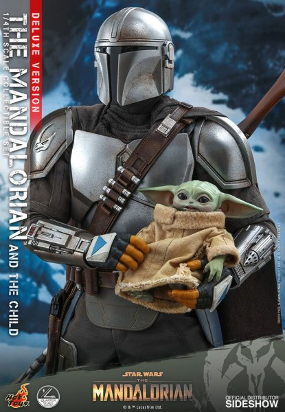 Star Wars The Mandalorian Actionfiguren-Set 1/4 The Mandalorian & The Child (46 cm) Deluxe Version