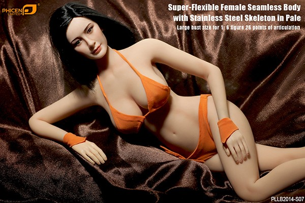Phicen / TBLeague 1/6 Actionfigur S07 Female Seamless-Body Metal Skeleton (Pale)