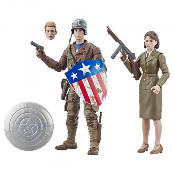 Captain America Marvel Legends 80th Anniversary Actionfiguren Captain America & Peggy Carter (2-Pack