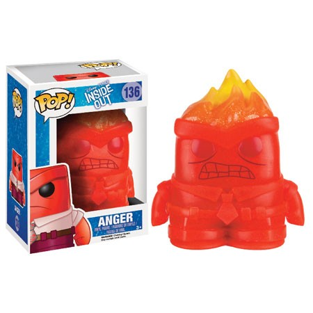 Inside Out Funko Pop! Vinylfigur Anger (Crystal) 136 Exclusive