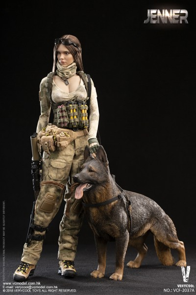 VERYCOOL Actionfigur 1/6 A-TACS FG Double Women Soldier (Brown Hair)