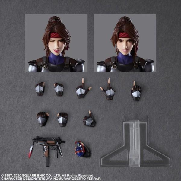 Final Fantasy VII Remake Play Arts Kai Actionfiguren-Set Jessie & Motorcycle