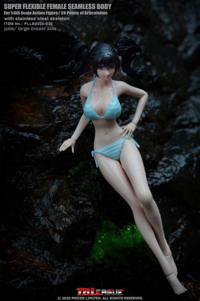 Phicen / TBLeague S36 Anime Girls 1/6 Actionfigur Pale Skin Large Breast Seamless Body with Head Scu