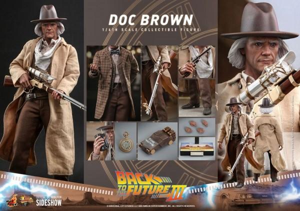 Zurück in die Zukunft III Movie Masterpiece Actionfigur 1/6 Doc Brown