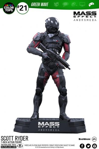 Mass Effect Color Tops Actionfigur Scott Ryder