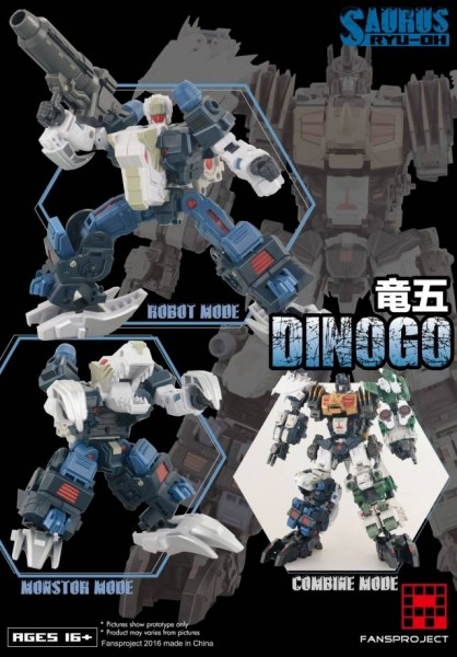 Fansproject Saurus Ryu-Oh Combiner - Dinogo
