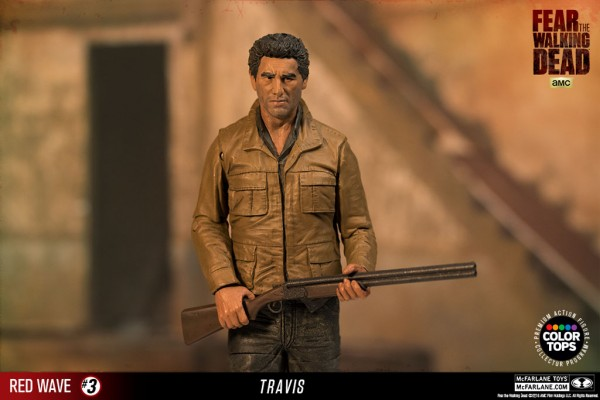 Fear The Walking Dead Color Tops TV Actionfigur Travis Manawa