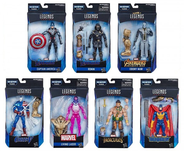 Avengers Endgame Marvel Legends Actionfiguren-Set Wave 1 Thanos (7)