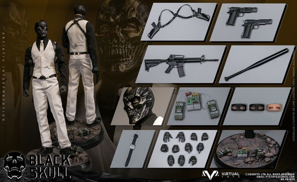 VTS Toys 1/6 Actionfigur Black Skull