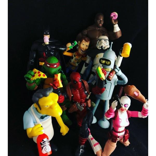 Super Action Stuff!! Super Foodie Series Zubehör-Set für Actionfiguren (15-18 cm)