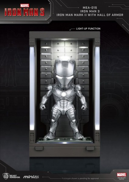 Iron Man 3 'Mini Egg Attack Action' Figur Hall of Armor Iron Man Mark II