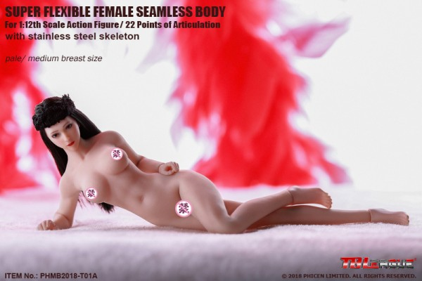 Phicen / TBLeague 1/12 Actionfigur Female Seamless-Body Metal Skeleton (White Skin Tone)
