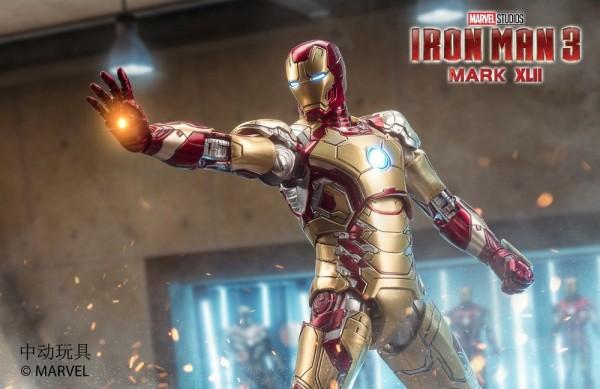 ZD Toys Actionfigur 1/10 Iron Man Mark XLII