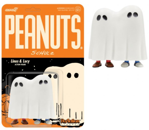 Peanuts ReAction Actionfigur Linus & Lucy Ghost