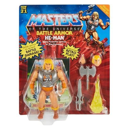 Masters of the Universe Origins 2021 Actionfigur He-Man Battle Armor (Deluxe)