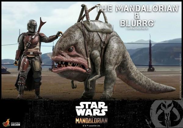 Star Wars The Mandalorian Television Masterpiece Actionfiguren 1/6 The Mandalorian & Blurrg (2-Pack)