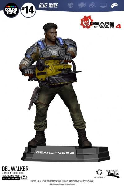 Gears of War 4 Color Tops Actionfigur Delmont 'Del' Walker