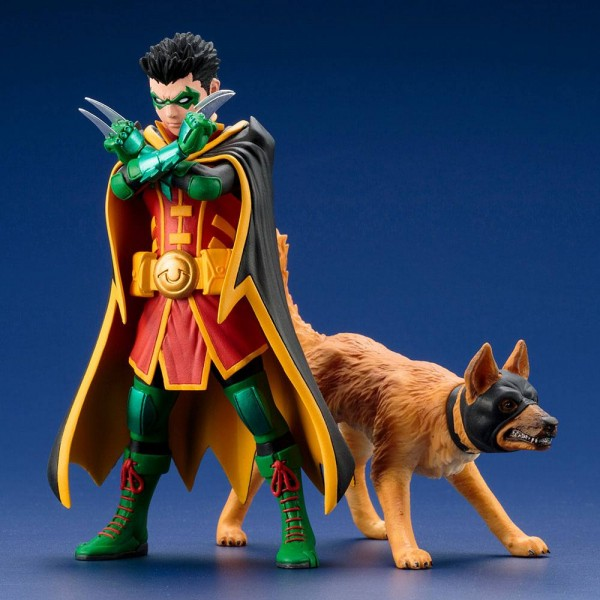 DC ARTFX+ Statue 1/10 Robin & Ace the Bat-Hound Doppelpack