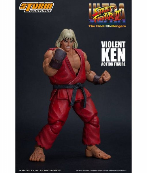Ultra Street Fighter II: The Final Challengers Actionfigur 1/12 Violent Ken
