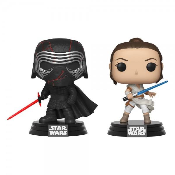 Star Wars Rise of Skywalker Funko Pop! Vinylfiguren Kylo Ren & Rey (2-Pack) Exclusive