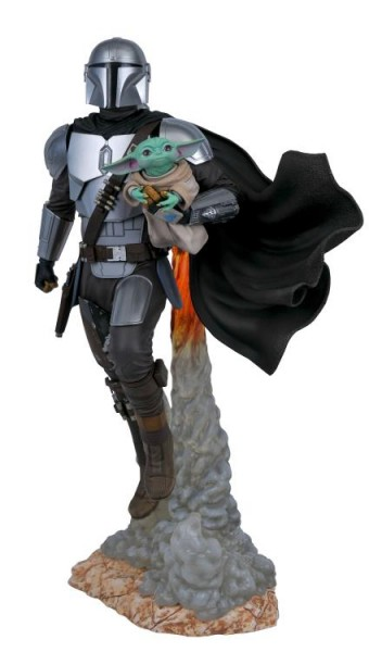 Star Wars The Mandalorian Milestones Statue 1/6 Mandalorian & Child