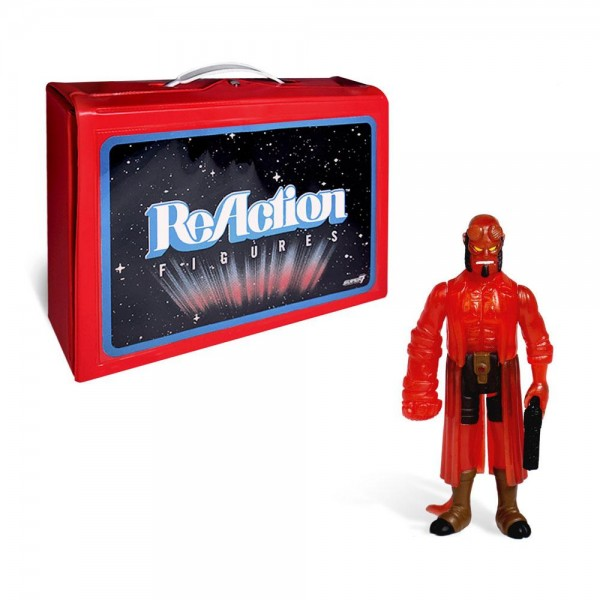 ReAction Tragekoffer & ReAction Hellboy Figur (Clear Red Variant) SDCC 2018