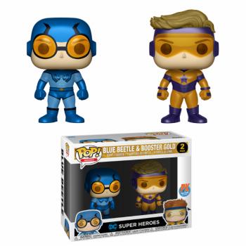 DC Funko Pop! Vinylfiguren Blue Beetle & Booster Gold 2-Pack Exclusive