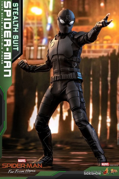 Spider-Man Far From Home Movie Masterpiece Actionfigur 1/6 Spider-Man (Stealth Suit)