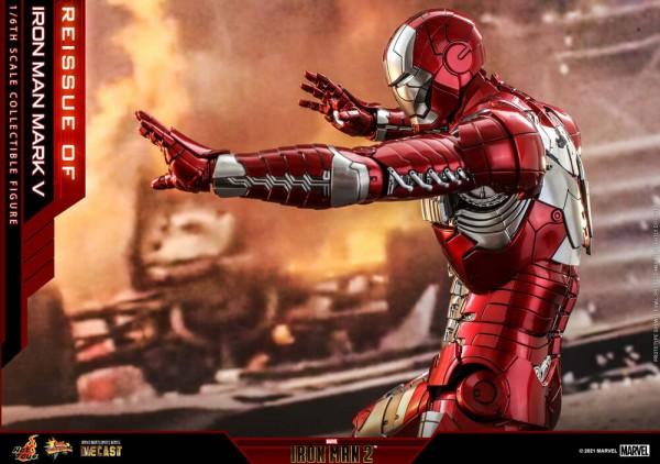 Iron Man 2 Movie Masterpiece Diecast Actionfigur 1/6 Iron Man Mark V (Reissue)