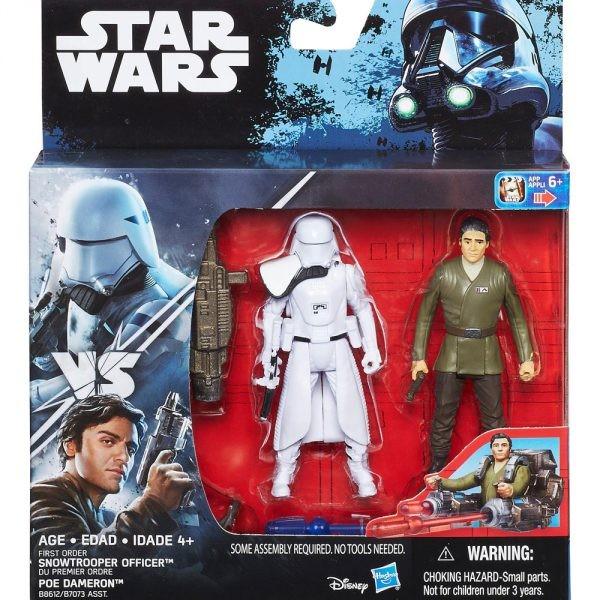 Star Wars Force Awakens Actionfiguren 10 cm 2-Pack Snowtrooper Officer vs. Poe Dameron (VII)
