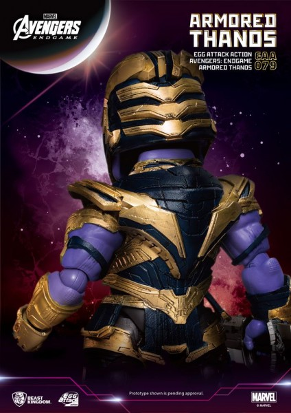 Avengers Endgame 'Egg Attack Action' Figur Armored Thanos