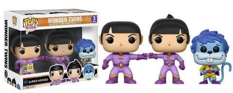 DC Funko Pop! Vinylfiguren Wonder Twins 3-Pack SDCC Exclusive